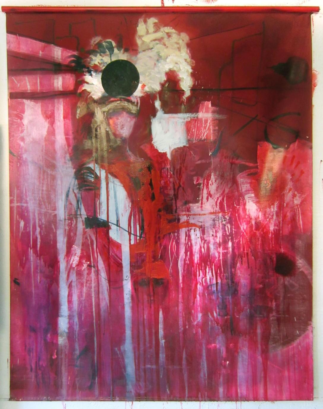 holy mistress 2014 oil on canvas 150cmx180cm