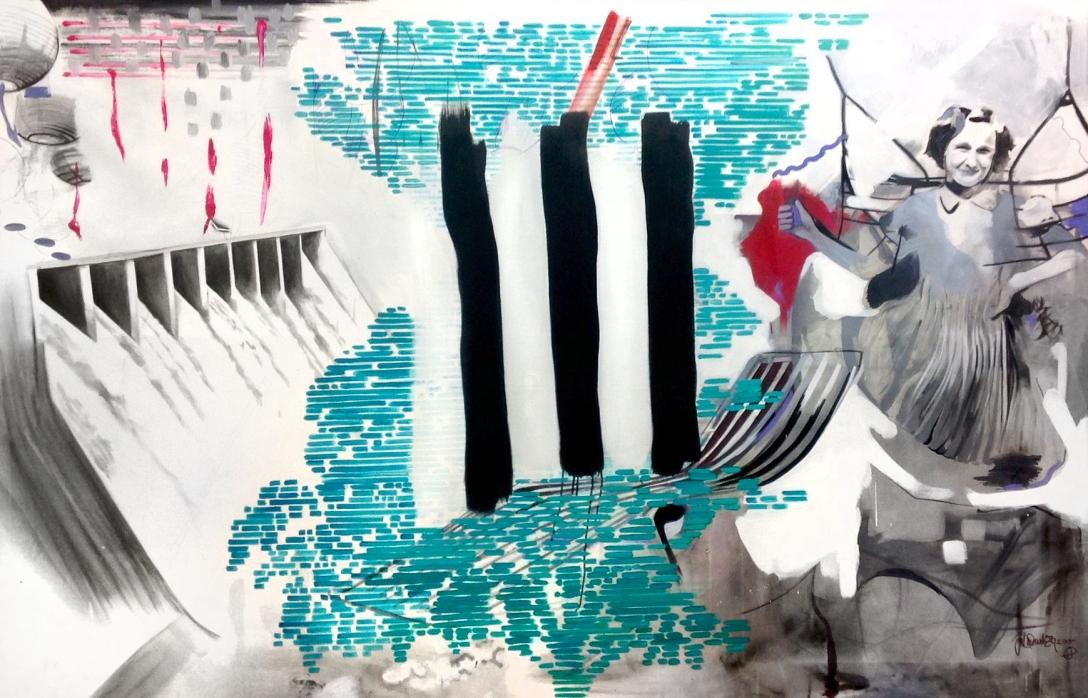 stripes I 2015 oil on canvas 150cm x 250cm