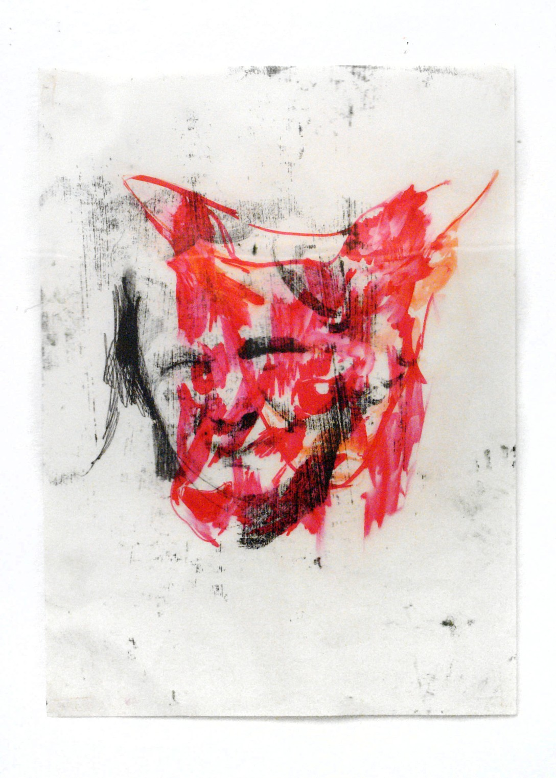 young wolf#2 2014 mixed media 51cmx71cm